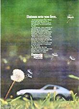 """1974 Datsun 260Z 260-Z  """"Sets You Free"""" auto print ad"""