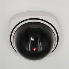 Outdoor Dome Fake White Security Camera CCTV Red Flash Motion Detector LED Light