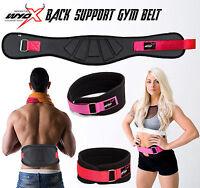 "Wyox Weight Lifting Gym Belt Padded Workout Belt Men Women Back Support 6"" Wide"