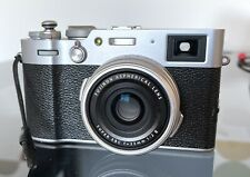 Fujifilm X100V 26.1MP Compact Camera - Silver + case + thumb grip