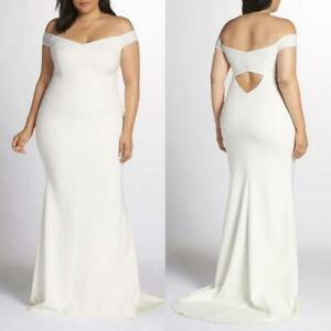 NEW KATIE MAY Ivory ALPHA Off the Shoulder WEDDING DRESS Plus Size GOWN 18W