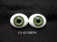 Big Doll Making Eye Cabs Flatback Large 30x40mm Oval Glass Eyes Set in Brown