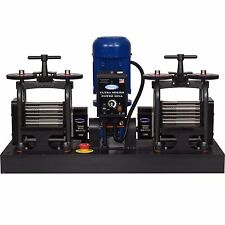 PepeTools Ultra Power Electric Double Combination Rolling Mills 130mm, USA MADE