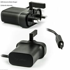 GENUINE NOKIA AC-18X Lumia 800, 810, 820, 822, 830, 900, 920 MAIN WALL CHARGER
