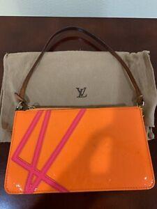 Louis Vuitton Robert Wilson Neon Orange Hot Pink Vernis Pochette limited edition