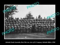OLD HISTORIC PHOTO OF ADELAIDE SA THE BOER WAR B Company ADELAIDE RIFLES c1900