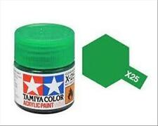 Tamiya Mini X25 CLEAR GREEN trasp. - Acrilico Lucido 10ml
