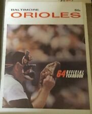 1964 BALTIMORE ORIOLES Yearbook- John Orsino Cover (Oversized Issue)