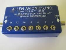 ALLEN AVIONICS INC PULSE & VIDEO DELAY LINE TDL 487 360-487 NANOSECONDS RARE