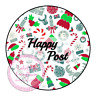 Christmas Style Happy Post Thank You Stickers Seals Labels Orders Customer