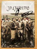 Extremo Ak Sterneneisen Tarjeta Autografiada Original Firmado #3