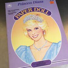 Princess Diana Wales Paper Dolls Uncut Golden Books Educational Toy Homeschool