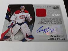 Carey Price 2008-09 UD Trilogy Scripted Swatches Relic Auto /100 Canadiens