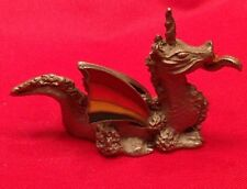 Pewter Dragon With Colored Wings Figurine By Spoontiques