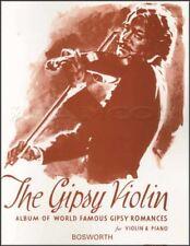 The Gipsy violon album de renommée mondiale Romances SHEET MUSIC BOOK & piano Gypsy