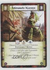 2013 Legend of the Five Rings CCG - Coils Madness #3 Mirumoto Kazuya Card 1i3