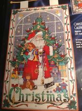 Christmas Advent Calendar Cross Stitch Kit w Charms Bucilla Santa 83698 RARE