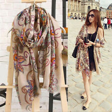 Womens Ladies Long Soft Chiffon Scarf Wrap Large Silk Winter Shawl Stole Scarves