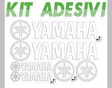 ADESIVI STICKERS KIT YAMAHA 6pz BIANCO - MOTO MOTOCROSS QUAD AUTO ESTERNO