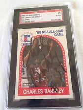 Charles Barkley VINTAGE 25 Yrs Ago HAND SIGNED 1989 Hoops A.S. SGC CERTIFIED COA
