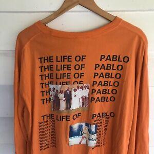 Kanye West Life of Pablo Long Sleeve Shirt HEY BIG Brand Size XL/XXL