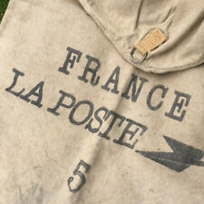 """Gorgeous Vintage FRENCH LA POSTE Mail Bag Sack with hanging ring 37"""" x 24.50"""""""