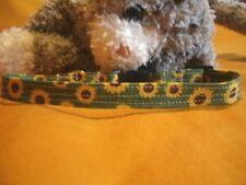 Fabric Cat Collar - Country Sunflower. Enjoy A Little Sunshine