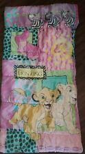 Vintage The Lion King Disney Simba Girls Kids Sleeping Bag Pink