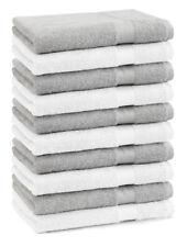 Betz 10 Stück Seiftücher Seiflappen Seiftuch PREMIUM 30x30cm weiß & silbergrau