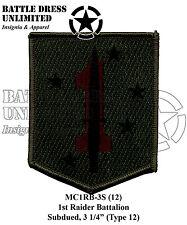 Patch, Marine Corps: 1st Raider Bn, Combat Subdued (USMC Raiders MCCU)
