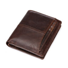 Premium Genuine Leather Mens Purse Bifold Business Credit Card Wallet