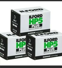 New Listing3 Rolls Ilford Hp5 Plus Black and White Iso 400 36 Exposure 35mm Film Fresh