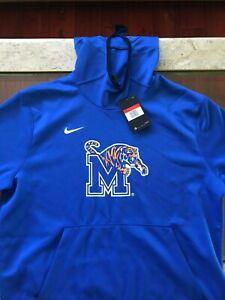 NEW University of Memphis SHORT SLEEVE Nike Memphis Tigers Dri-Fit Hoodie, Large