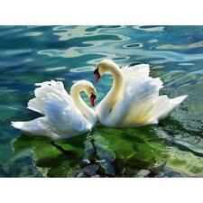 5D DIY Swan Lovers Diamond Painting Embroidery Cross Stitch Kits Craft Art Decor