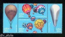 Ballons à air chaud MNH se-tenant bloc de 4 TIMBRES USA 1983 #2032-5