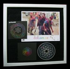 COLDPLAY+SIGNED+FRAMED+DREAMS+HYMN FOR WEEKEND=100% GENUINE+EXPRESS GLOBAL SHIP