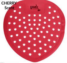 1 each Red Vinyl Cherry Scent Urinal Screen Deodorizer Odor Freshener w/Glove