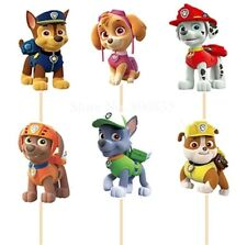 12 X PAW PATROL cake Picks/ Cupcake Toppers Kids Birthday Party Ryder Figure Sky