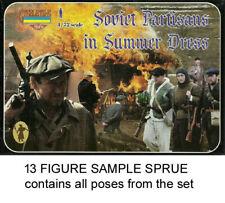 Strelets M085 Soviet Partisans in Summer Dress 1/72 Model Kit - 1 Sprue 13 Figs