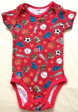 ♥ Carter's Boy Balls Red One Piece Bodysuit 6-12m ♥ Imported