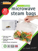 QUICKASTEAM - TAILLE MOYENNE MICRO-ONDES VAPEUR SACS 30 PK