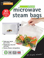 QUICKASTEAM - MEDIUM SIZE MICROWAVE STEAM BAGS 30 PK