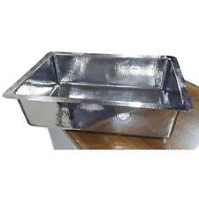 Hammered Design Stainless Steel Kitchen Sink - Dimensions 33″ x 22.25″ x 9″