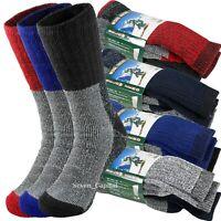 3 Pair Mens Winter Heavy Duty Super Warm Wools Thermal Socks Ski Boots Sox 10-15