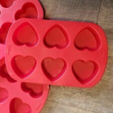 Three Wilton 6-Cavity Mini Silicone Molds, Heart 2105-4824