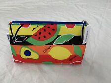 Clinique Makeup Bag Zipper Pouch Fruit Design NEW