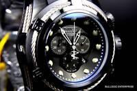 Mens Invicta Reserve Bolt Zeus Swiss Made Chronograph Black Rubber Watch New