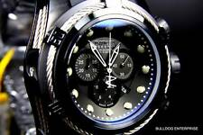 Mens Invicta Reserve Bolt Zeus Swiss Made Chronograph Black Rubber Watch New