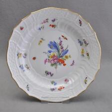 Meissen Blumen und Insekten, Neubrandenstein, Teller, 25 cm, Pfeifferzeit, 1.Wah