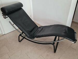 LE CORBUSIER Liege LC4 Replica Leder schwarz Relax *top Zustand*Versand möglich!